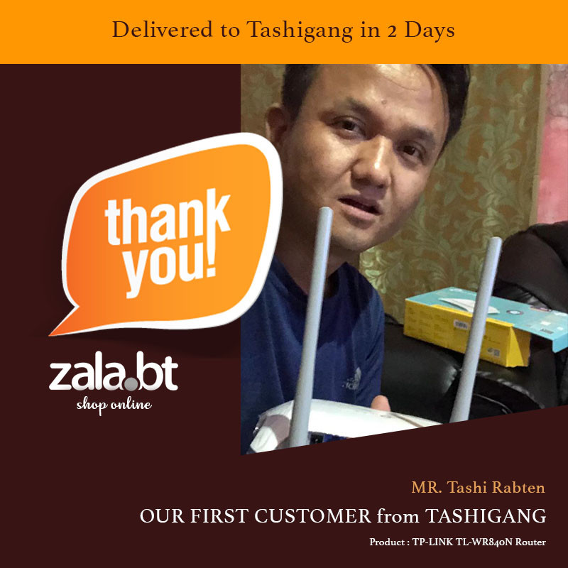 Our First customer from Tashigang