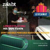 Winner of the Zala.bt Giveaway
