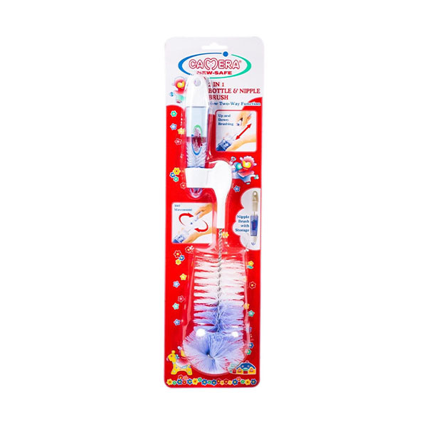 Camera 2 in 1 Bottle and Nipple Brush