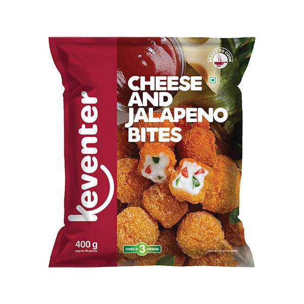 Keventer Cheese and Jalapeno Bites, 400g