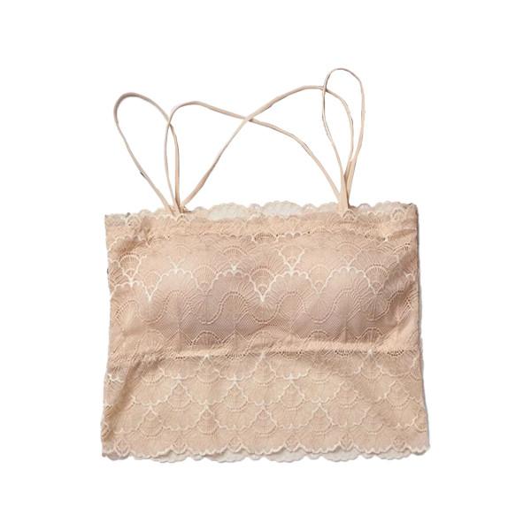Korean Style Lace Crop Top Bra