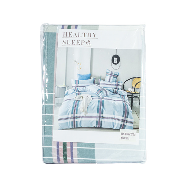 Light Blue Bed Sheet Double Size