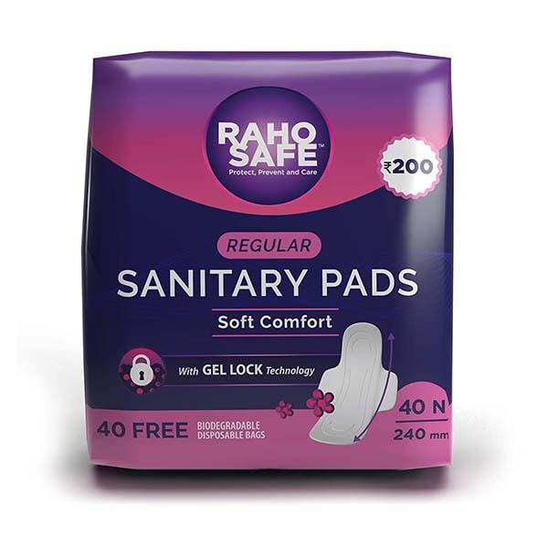 Raho Safe Sanitary Pad  Regular, 40 N 240mm